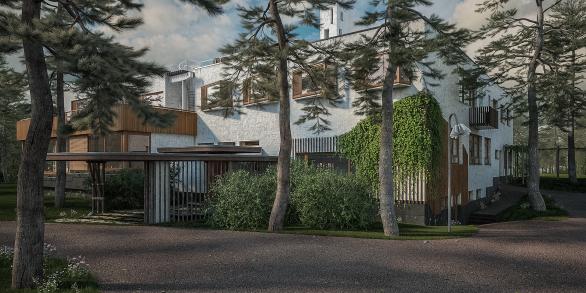 Villa Mairea / ingresso sud-est
